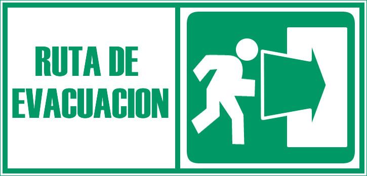 señal de evacuacion